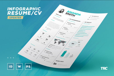 Infographic Resume/Cv Volume 7 - Indesign + Word Template
