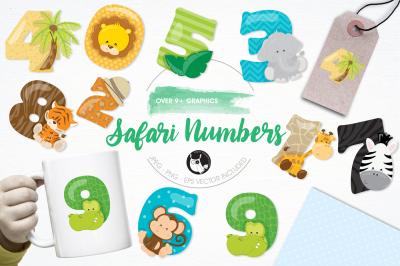 Safari Numbers graphics and illustrations