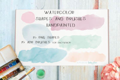 Watercolor Shapes Splotches abr Brushes