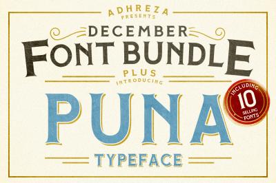 Adhreza's Bundle PLUS Puna Typeface