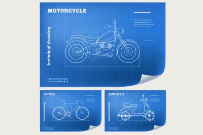 Technical transport Illustrations