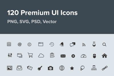 120 UI Icons