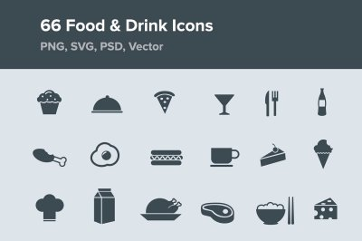 66 Food & Drink Icons