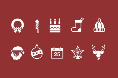 45 Christmas & Holiday Icons