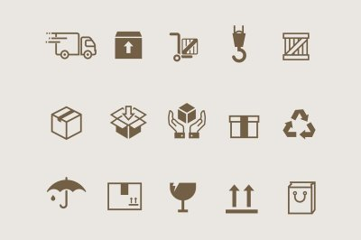 15 Box & Packaging Icons
