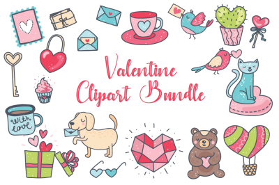 Valentine Clipart Bundle