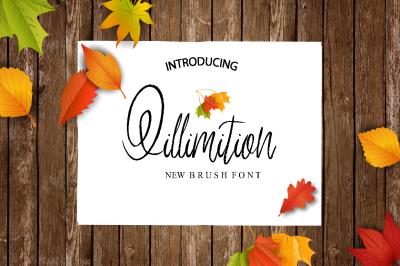 Qillimition Script Font