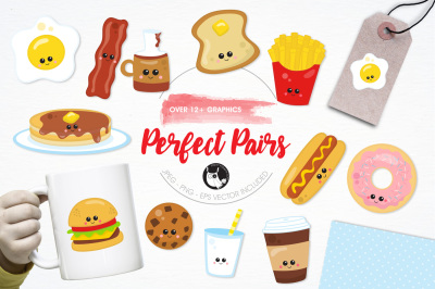Perfect Pairs graphics and illustrations