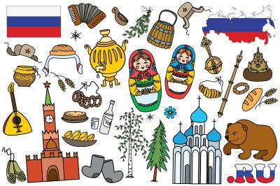 Big flat set- Russian symbols