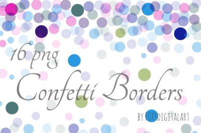 Confetti Borders Confetti Background