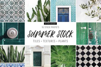 Summer stock photos, tiles, textures, plants