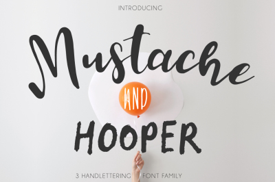 Mustache Pack [3 Fonts]