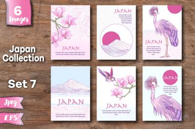 Japan symbols banners