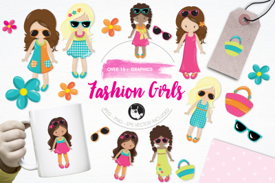 Fashion Girls graphics and illustrations