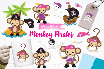 Monkey Pirates graphics and ilustrations