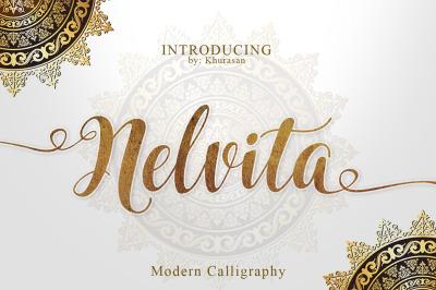 Nelvita Script (Duo Font + Bonus)