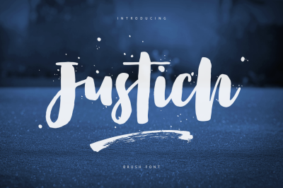 Justich Brush Font