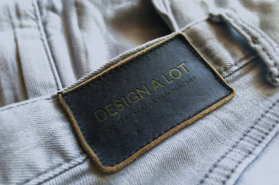Engraved Dark Brown Leather Label