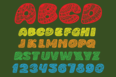 Font of curly letters.