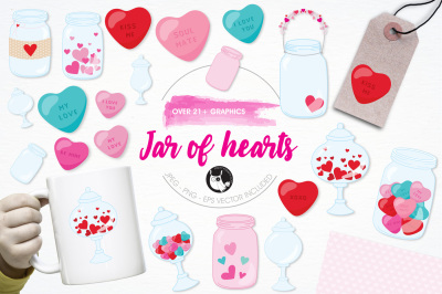 Jar of Hearts graphics and illustrations