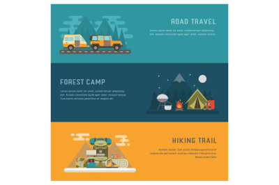 Adventure Summer Travel Banners