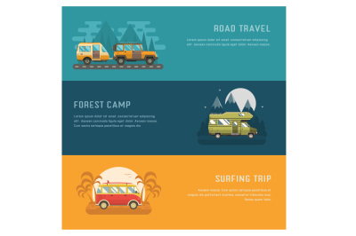 RV Campers Auto Travel Banners