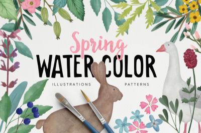 Spring & Easter Watercolor set