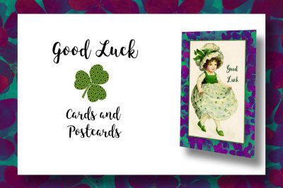 Shamrock Good Luck Cards and Postcards