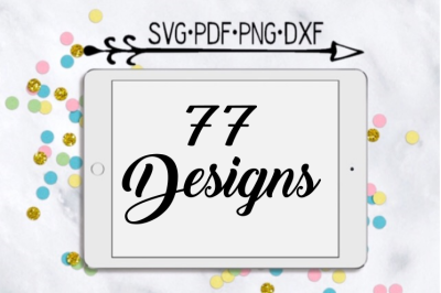 77 Different Cutting Designs Bundle
