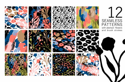 12 artistic seamless patterns