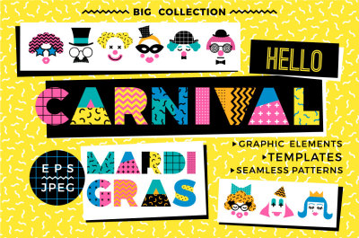 Hello Carnival! Vector collection