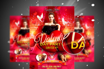 Valentine Day Party Flyer & Facebook Cover