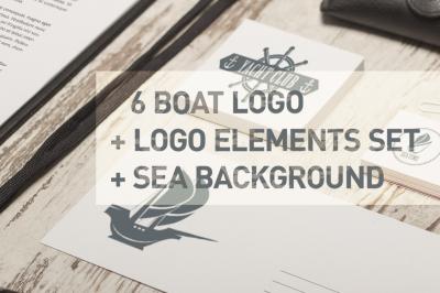 Boat logo set