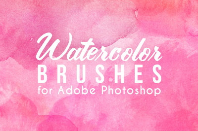 75 Watercolor Photoshop Brushes + PNGs