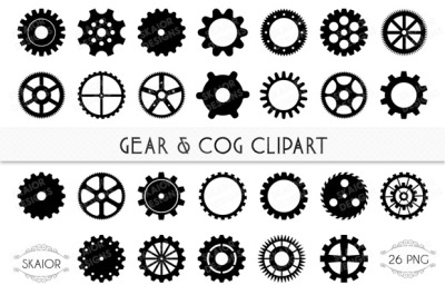 Gears and Cogs Clipart