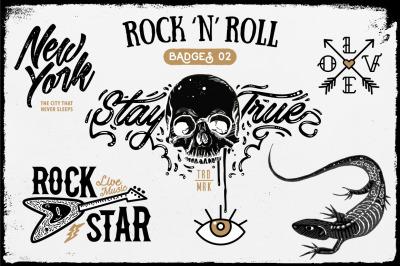 Rock 'n' Roll Badges 02