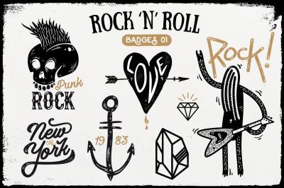 Rock 'n' Roll Badges 01