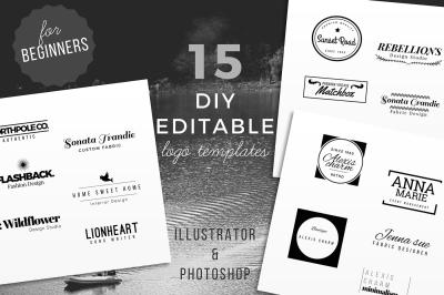 15 DIY Logo Template for beginners