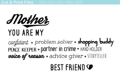 Mother - cutting files