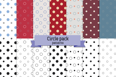 Circle pack – 14 seamless patterns