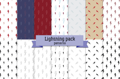 Lightning pack - 14 seamless patterns