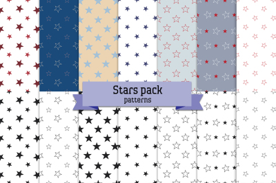 Stars pack – 14 seamless patterns