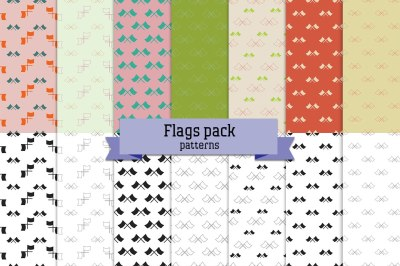 Flags pack – 14 seamless patterns