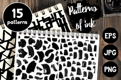 Simple patterns of ink