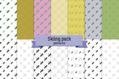 Skiing pack – 14 seamless patterns