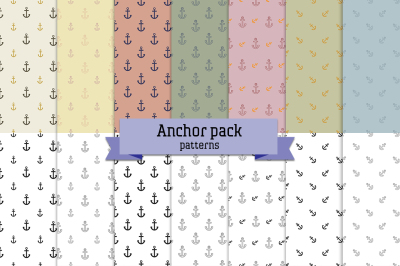 Anchor pack – 14 seamless patterns