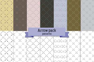 Arrow pack – 14 seamless patterns