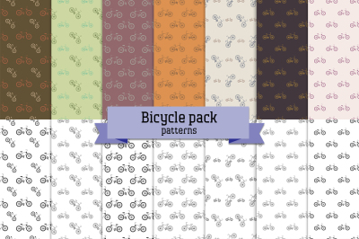 Bicycle pack – 14 seamless patterns