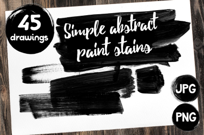 Simple abstract paint stains