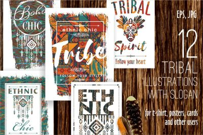 12 tribal illustrations